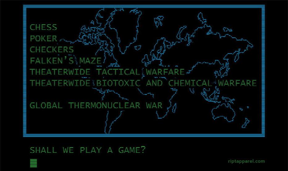 Cine del bueno en forma de camiseta: War games y Shaun of the dead