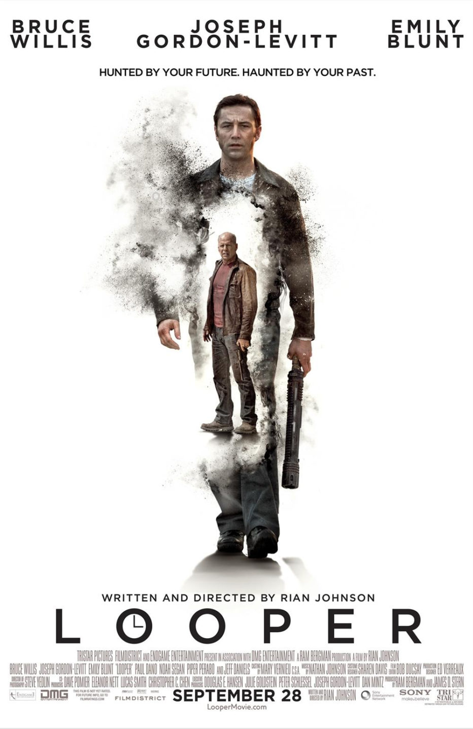 Looper. Joseph Gordon-Levitt vs Bruce Willis. Trailer y Poster