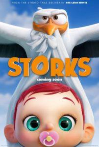 """Poster de la película """"Cigüeñas"""""""