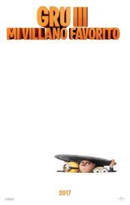 """Poster de la película """"Gru 3. Mi villano favorito"""""""