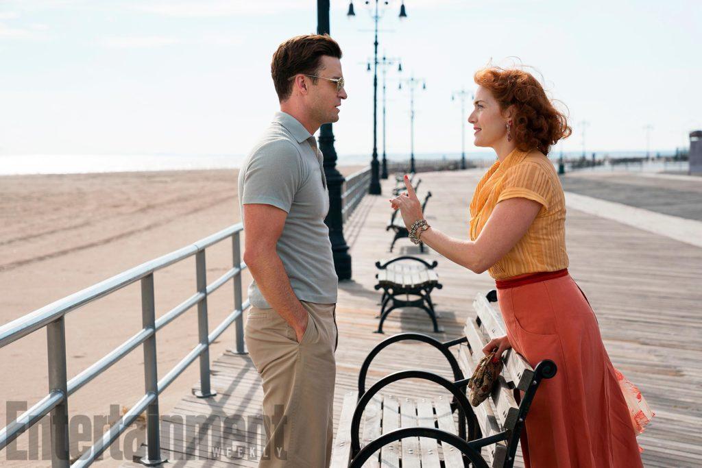 Fotograma de 'Wonder Wheel' con Kate Winslet y Justin Timberlake
