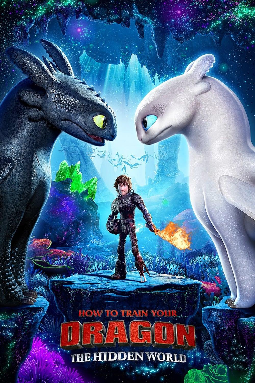 """Poster de la película """"Cómo entrenar a tu dragón: ¡El mundo oculto!"""""""